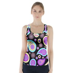 Paisley Pattern Background Colorful Racer Back Sports Top
