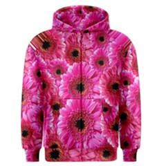 Gerbera Flower Nature Pink Blosso Men s Zipper Hoodie