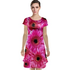 Gerbera Flower Nature Pink Blosso Cap Sleeve Nightdress