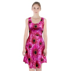 Gerbera Flower Nature Pink Blosso Racerback Midi Dress