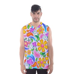 Floral Paisley Background Flower Men s Basketball Tank Top