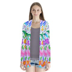 Floral Paisley Background Flower Cardigans