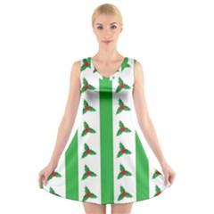 Holly V Neck Sleeveless Skater Dress