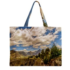 Valley And Andes Range Mountains Latacunga Ecuador Medium Tote Bag