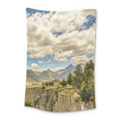 Valley And Andes Range Mountains Latacunga Ecuador Small Tapestry