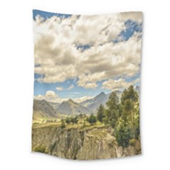 Valley And Andes Range Mountains Latacunga Ecuador Medium Tapestry