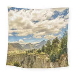 Valley And Andes Range Mountains Latacunga Ecuador Square Tapestry (large)