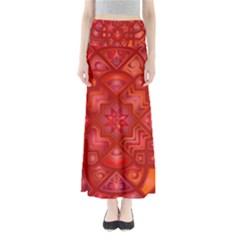 Geometric Line Art Background Maxi Skirts