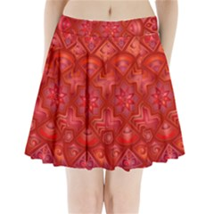 Geometric Line Art Background Pleated Mini Skirt