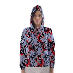 Dragon Pattern Hooded Wind Breaker (Women)