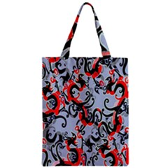 Dragon Pattern Zipper Classic Tote Bag