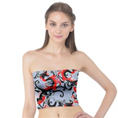 Dragon Pattern Tube Top
