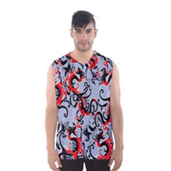 Dragon Pattern Men s Basketball Tank Top