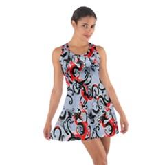 Dragon Pattern Cotton Racerback Dress