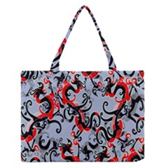 Dragon Pattern Medium Zipper Tote Bag