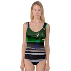 Abstraction Princess Tank Leotard