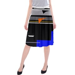 Abstraction Midi Beach Skirt