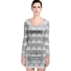 Pattern Retro Background Texture Long Sleeve Bodycon Dress