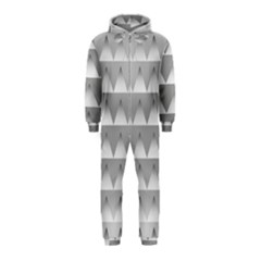 Pattern Retro Background Texture Hooded Jumpsuit (kids)