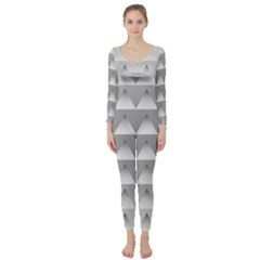 Pattern Retro Background Texture Long Sleeve Catsuit
