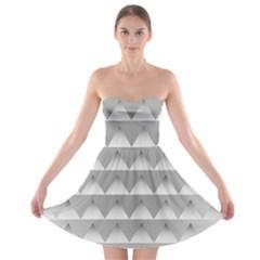 Pattern Retro Background Texture Strapless Bra Top Dress