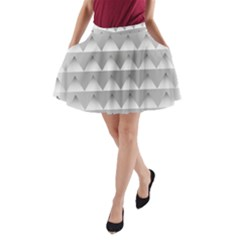 Pattern Retro Background Texture A-Line Pocket Skirt