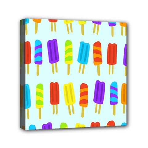 Food Pattern Mini Canvas 6  x 6