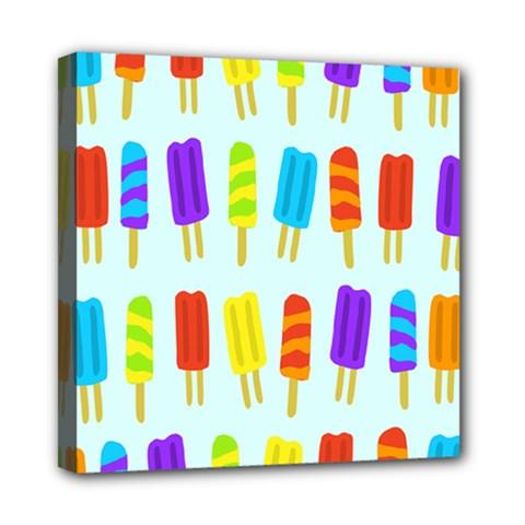 Food Pattern Mini Canvas 8  x 8