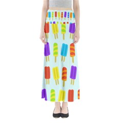Food Pattern Maxi Skirts
