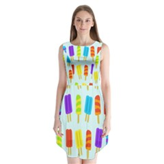 Food Pattern Sleeveless Chiffon Dress
