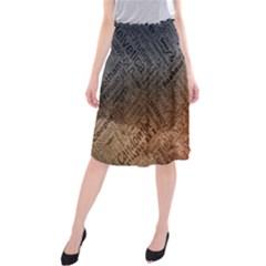 Typography Midi Beach Skirt