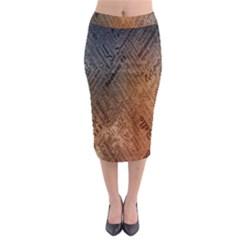 Typography Midi Pencil Skirt