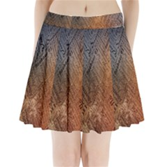 Typography Pleated Mini Skirt