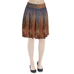 Typography Pleated Skirt