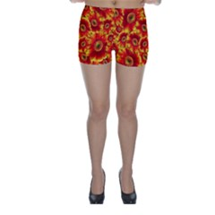 Gerbera Flowers Blossom Bloom Skinny Shorts