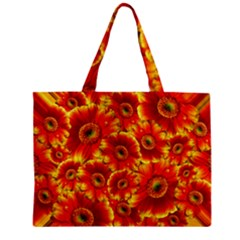 Gerbera Flowers Blossom Bloom Zipper Mini Tote Bag
