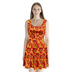 Gerbera Flowers Blossom Bloom Split Back Mini Dress