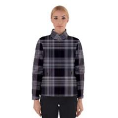 Plaid Checks Background Black Winterwear