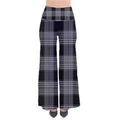 Plaid Checks Background Black Pants
