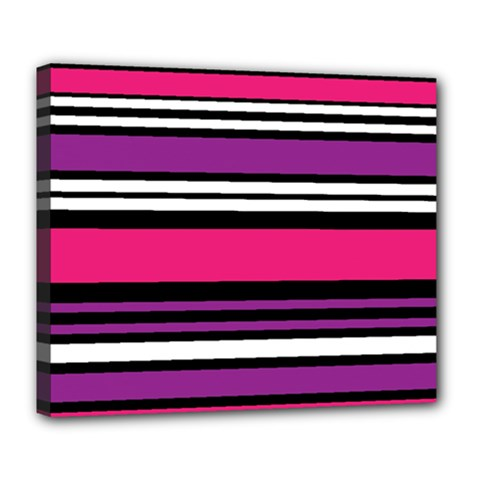 Stripes Colorful Background Deluxe Canvas 24  x 20