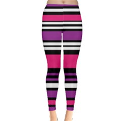 Stripes Colorful Background Leggings