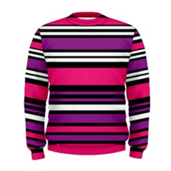 Stripes Colorful Background Men s Sweatshirt