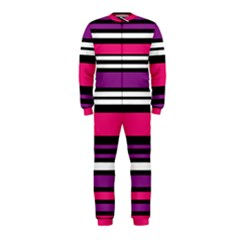 Stripes Colorful Background OnePiece Jumpsuit (Kids)
