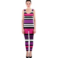 Stripes Colorful Background OnePiece Catsuit