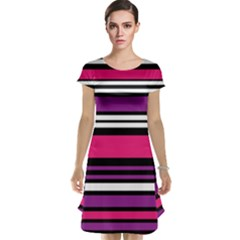 Stripes Colorful Background Cap Sleeve Nightdress