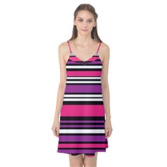 Stripes Colorful Background Camis Nightgown