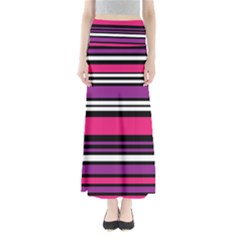 Stripes Colorful Background Maxi Skirts