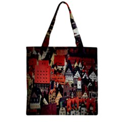Tilt Shift Of Urban View During Daytime Zipper Grocery Tote Bag