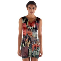 Tilt Shift Of Urban View During Daytime Wrap Front Bodycon Dress