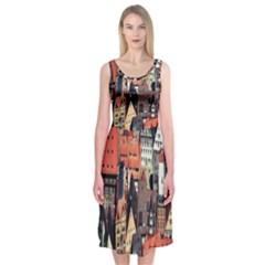 Tilt Shift Of Urban View During Daytime Midi Sleeveless Dress